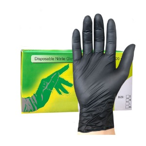 disposable nitrile gloves (black)